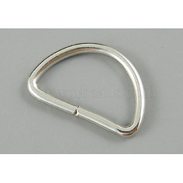 Iron D Rings, Buckle Clasps, For Webbing, Strapping Bags, Garment Accessories, Platinum, 9x14x1.2mm(E336-1)