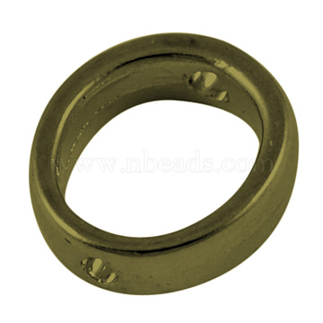 Tibetan Style Bead Frames, Lead Free & Cadmium Free, Ring, Antique Bronze Color, about 12mm in diameter, 4mm thick, hole: 1mm(EA13620Y-AB)