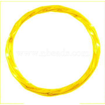 Alloy Linking Rings, Circle Frames, Lead Free and Cadmium Free & Nickel Free, Golden Color, about 21mm in diameter, 2mm thick, hole: 1mm(EA8812Y-NFG)