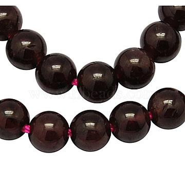 7mm DarkRed Round Garnet Beads