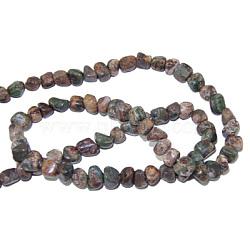 """Brins en pierres précieuses, chinois jaspe océan, les perles environ 3~5 mm; trou: 0.8 mm; 15.5"""", 82 pcs / chapelet(G365-42)"""