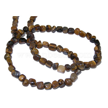 Gemstone Strands, Tiger Eye,The beads about 3~5mm; hole: 0.8mm; 15.5 inches, 82pcs/strand(G365-11)