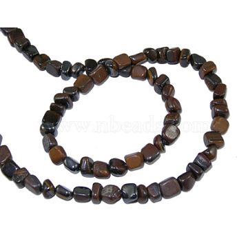 Natural Tiger Iron Beads Strands, Chips, 3~5mm, hole: 0.8mm, about 60pcs/strand, 15.5 inches(G365-4)