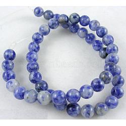 подвески, натуральное синее пятно яшма, вокруг, cornflowerblue, 14 mm, отверстия: 1 mm; о 28 шт / прядь, 16(GSR14mmC036)