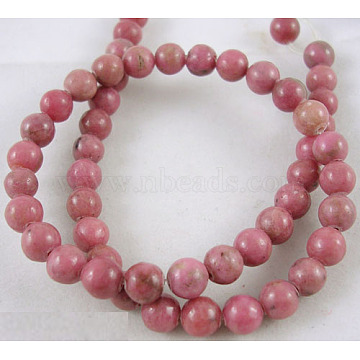 8mm IndianRed Round Rhodonite Beads