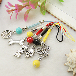 Fashionable Cell Phone Charm Straps, Vary in Materials and Colors, 90~120mm(HJEW-JM00104)