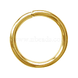 Golden Ring Brass Close but Unsoldered Jump Rings(J0CPF018-1)