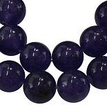 6mm Indigo Round White Jade Beads(JBR8-6mm)