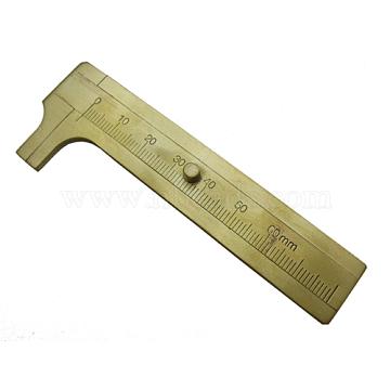 Brass vernier caliper, Golden, 9.65x3.4x2.5cm(JT005)