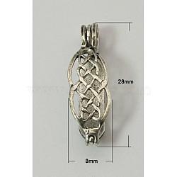 laiton beignet bails, Donuthalter, argent antique, 28x8x6 mm, trou: 4x3.5 mm(KK-C2913-AS)
