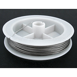 Original Color Tail Wire, Nylon-coated Steel, Light Grey, 0.8mm in diameter, about 10m/roll(L0.8MM01)