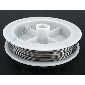 Original Color Tail Wire, Nylon-coated Steel, Light Grey, 0.8mm in diameter, about 32.8 Feet(10m)/roll(L0.8MM01)