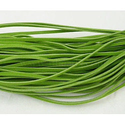 Cordon de laine, limegreen, 3x1 mm; 1 m / brin, 250strands(LCW-002Y-27)