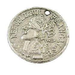 Pendentifs de style tibétain , sans plomb et sans cadmium, pièce de monnaie, argent antique, 15.5x1mm, Trou: 1mm(LF1468Y)