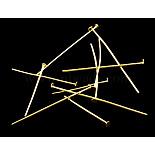 5cm Golden Iron Pins(M-HP001Y-G)