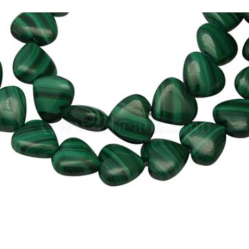 10mm Green Heart Malachite Beads