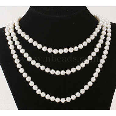 Glass Pearl Beaded Necklaces(N193-39)-2