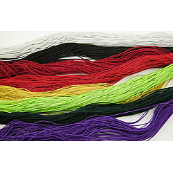 Nylon Thread, Elastic, Mixed Color, about 1mm in diameter, 20m long(NE001M)