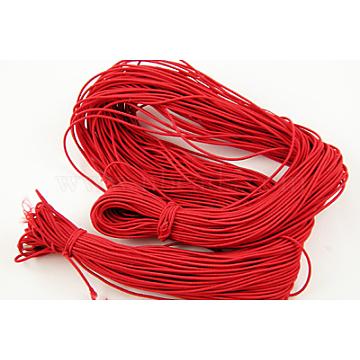 Nylon Thread, Elastic, Red about 1mm in diameter, 20m long(NE001-019)