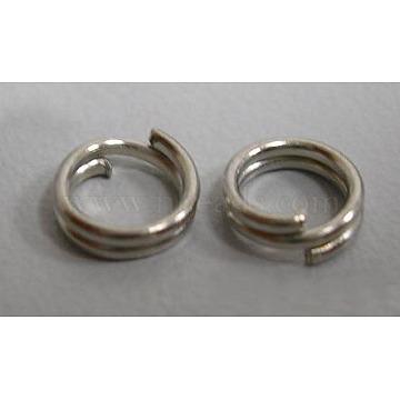 Iron Split Rings, Cadmium Free & Nickel Free & Lead Free, Platinum, 4x1.4mm; about 3.3mm inner diameter; about 20000pcs/1000g(JRD4mm-NF)