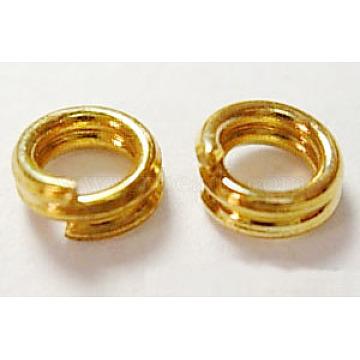 Golden Round Iron Split Rings