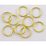 Golden Round Iron Close but Unsoldered Jump Rings(NFJRG4mm)