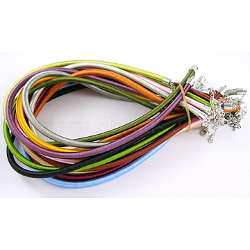 """5x Silk Cord Neckalces Cord Chain Making With Brass Lobster Clasps Craft 17/""""~18/"""""""