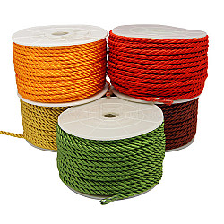 Dacron, couleur mixte, 4mm, 20 yards / rouleau(OCOR-H002-2M)