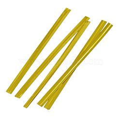 Cordon de fil net, or, Longueur 80mm,  largeur de 4 mm, environ 800 pcs / sachet (OPG002Y)