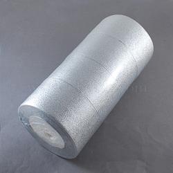 """Ruban scintillant, matériel de bricolage pour organza arc, Double Sided, argenterie, 2"""" (50 mm), 25yards / roll (22.86m / roll), 4 rouleaux / set(ORIB-50mm-S)"""