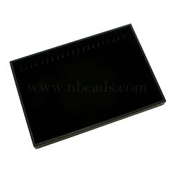 Plastic Bracelet Display, Rectangle, Black, about 35cm long, 24cm wide, 3cm high(PCT131)