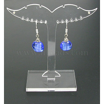 Clear Plastic Earring Stands