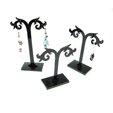Black Plastic Earring Stands