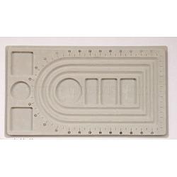 Plastic Bead Design Boards, Rectangle , Gray, 23x41x1cm(PD001)