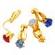 Brass Clip on Earrings(PFE005-G)-1