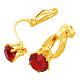 Brass Clip on Earrings(PFE005-G)-2