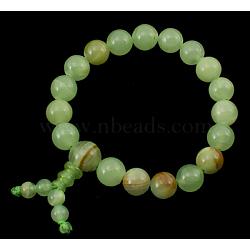 Bracelet de perles de Bouddha, jade, environ 6 diamètre intérieur cm; perles: environ 10 mm de diamètre(PJBR003-27)