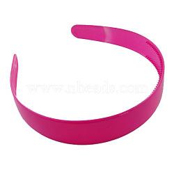 Accessoires de bande de cheveux en plastique, hotpink,  largeur de 16~25 mm(PJH097Y-5)