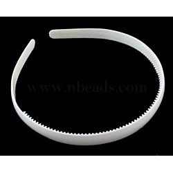 Accessoires de bande de cheveux en plastique, blanc,  largeur de 8 mm(PJH103Y-1)