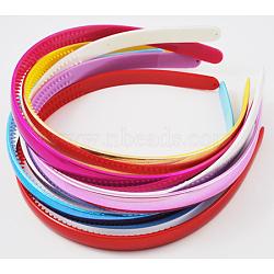 Accessoires de bandeau acryliques, couleur mixte, environ 11.5 mm de large, 12 pcs /sachet (PJH810Y)
