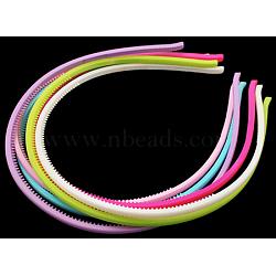 Accessoires de bande de cheveux acryliques, couleur mixte, 105 mm; 4 mm de large, 12 pcs /sachet (PJH813Y)