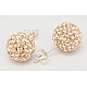 Valentines Day Gift for Her Sterling Silver Austrian Crystal Rhinestone Ear Stud(Q286G201)-1
