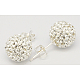 Gifts for Her Valentines Day Sterling Silver Austrian Crystal Rhinestone Ball Stud Earrings for Girl(Q286H011)-1