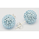Sterling Silver Austrian Crystal Rhinestone Ball Stud Earrings for Girl(Q286H031)-1