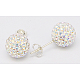 Sexy Valentines Day Gifts for Her Sterling Silver Austrian Crystal Rhinestone Ball Stud Earrings(Q286J021)-1