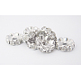 10mm Clear Rondelle Brass+Rhinestone Spacer Beads(RB-A006-10MM-N)
