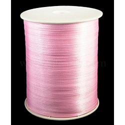 "Ruban de satin à face unique, Ruban de polyester, rose, 1/8"" (3mm) de large; à propos de 880yards / roll (804.672m / roll)(RC3mmY004)"