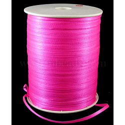 "Ruban de satin à face unique, Ruban de polyester, hotpink, 1/8"" (3mm) de large; à propos de 880yards / roll (804.672m / roll)(RC3mmY014)"