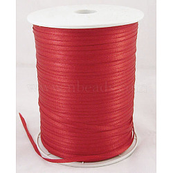 "Ruban de satin à face unique, Ruban de polyester, rouge, 1/8"" (3mm) de large; à propos de 880yards / roll (804.672m / roll)(RC3mmY026)"
