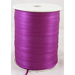 "Ruban de satin à face unique, Ruban de polyester, violet, 1/8"" (3mm) de large; à propos de 880yards / roll (804.672m / roll)(RC3mmY034)"